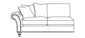 Keaton - 2 Seater 1 Arm