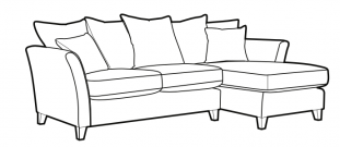 Lilly - lf/rhf corner chaise (rhf shown)