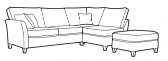 Lilly - LHF/RHF Open ended corner group (rhf shown) Optional footstool