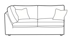 Jude - 2 seater armless corner LHF/RHF