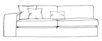 Solace - LHF/RHF 2 Seater 1 Arm